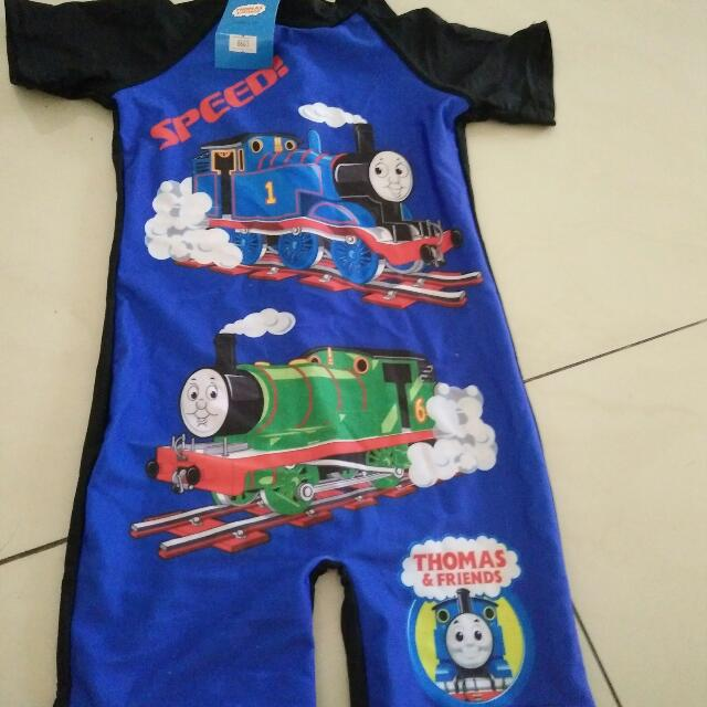 new baju renang thomas usia  2-3th
