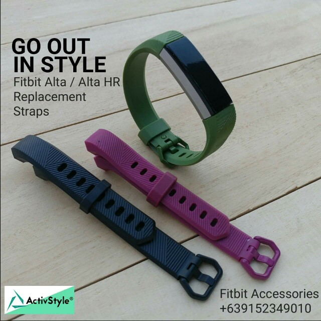 New collection straps for the Fitbit Alta and Alta HR.   Colours: Magenta, Black, Army Green Price: 500 PHP each strap Set of 3: 1200 PHP