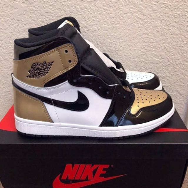 fc9ba8f824a51a Nike Air Jordan 1 OG NRG  Gold Top 3