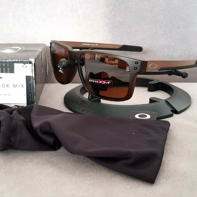 8ab4a8ff9e Oakley holbrook mix matte rootbeer prizm tungsten polarized lens ...