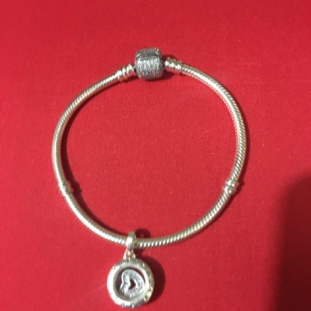 Pandora  925 bracelet with  locket Charm