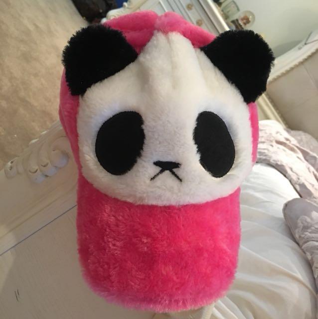 Pink panda cap / hat
