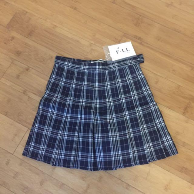 Plain Tartan Tennis Skirt Size Small