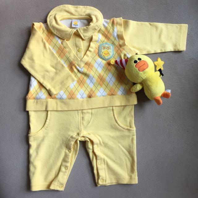 afba6999e Preloved PiYo PiYo Baby Romper 6-12m, Babies & Kids, Babies Apparel ...