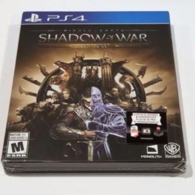 PS4 Middle Earth: Shadow of War Gold edition