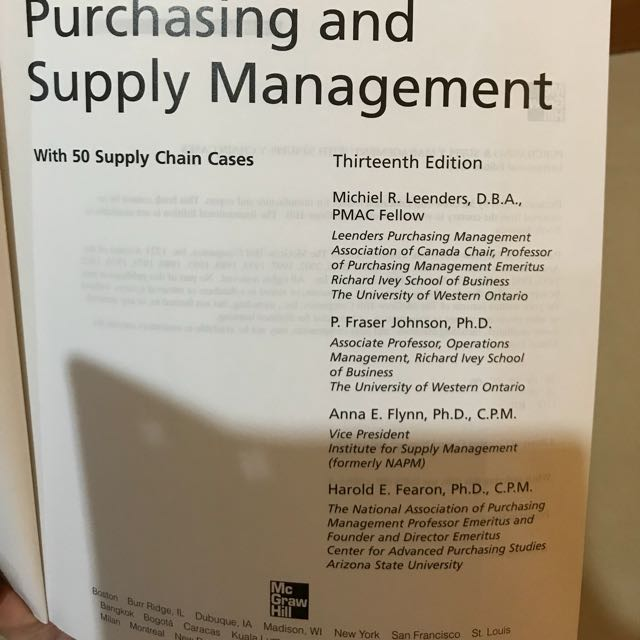 Purchasing and supply management with 50 supply chain cases books purchasing and supply management with 50 supply chain cases books stationery textbooks on carousell fandeluxe Images