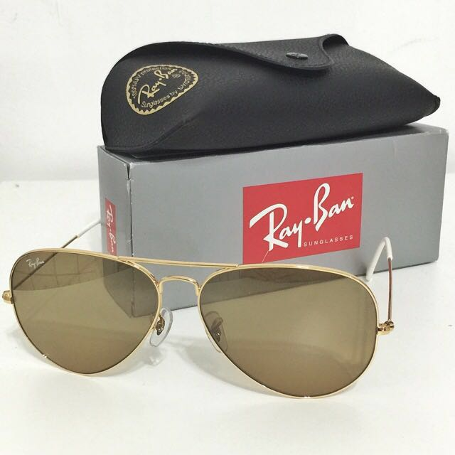 Rayban aviator 62mm gold/brown Sunglasses