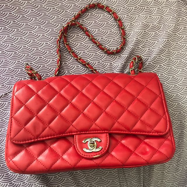 418270947cb  REPRICED AGAIN Knock-off Chanel Red Bag on Carousell