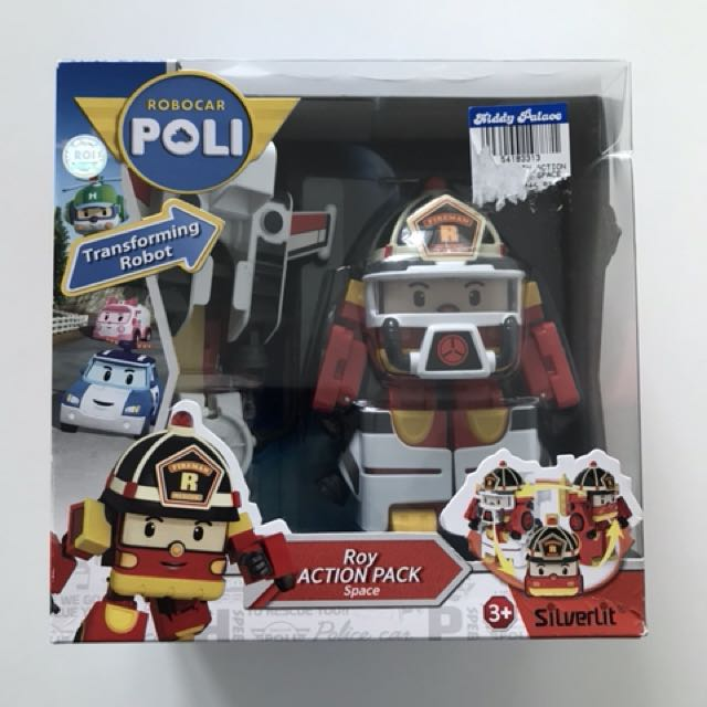 Robocar Poli -transforming robot - Roy action pack space, Babies & Kids, Toys & Walkers on Carousell