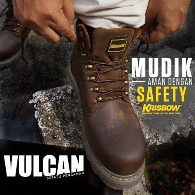 d63a159dffa Sepatu Safety Krisbow Vulcan Brown Ukuran 39 40 41 42 43 44 45 ...