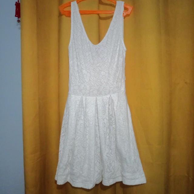 SFERA White Lace Dress