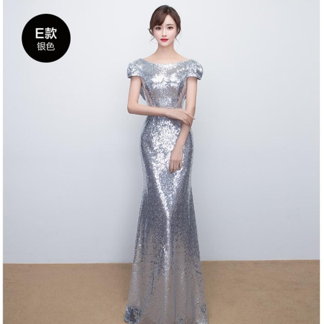 cb8bcc6277 Silver Sequin Evening Dresses | Saddha