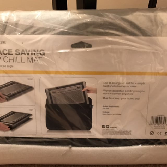 Space saving Lap chill mat for laptop