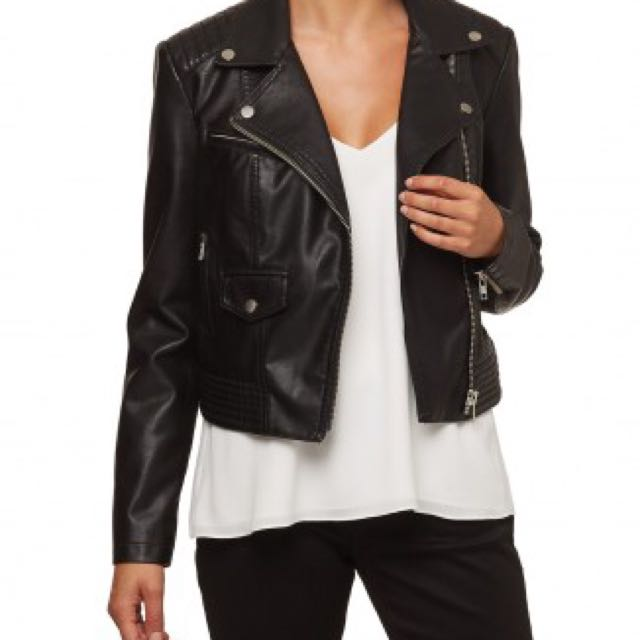 Sportsgirl PU Leather Jacket