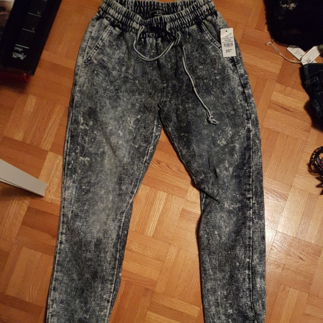 Street Society Washed out denim joggers