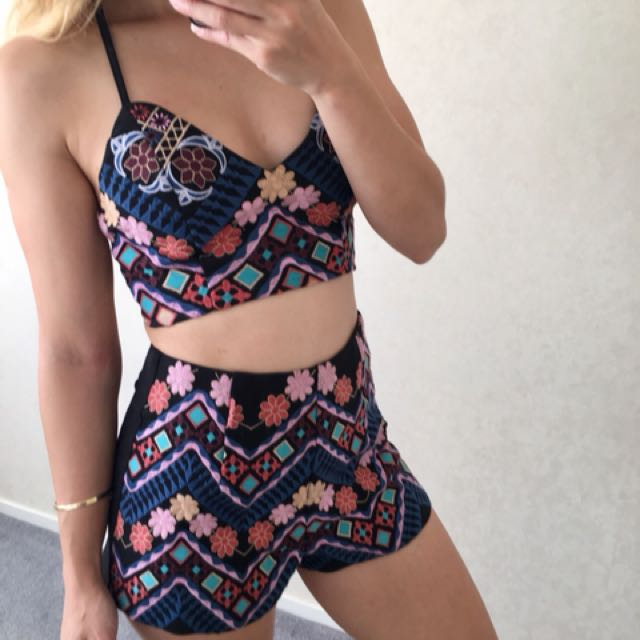 SUMMER TWO PIECE BOHO SET as new condition