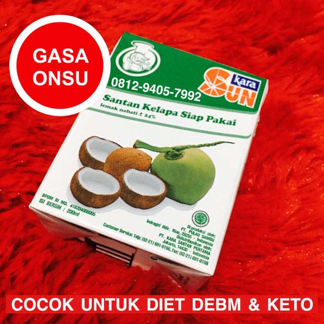 Sun Kara Santan Kelapa 200ml Cocok untuk DEBM & Keto