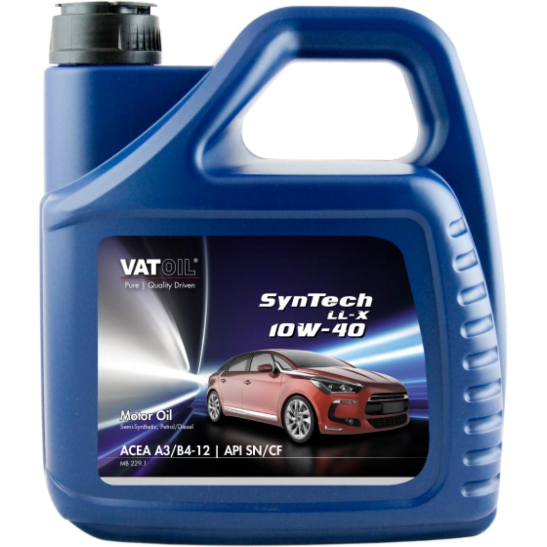 Vatoil Syntech Ll X 10w 40 Semi Synthetic 4 Liters Auto As Qr Satu Set Depan Belakang Accessories On Carousell