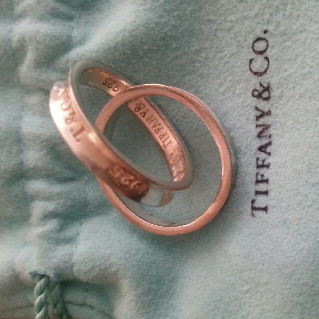Tiffany Double Ring. Authentic. Size 8