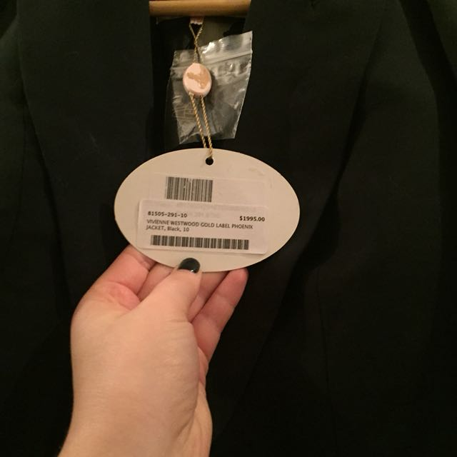 Vivienne Westwood Blazer Tags still attached