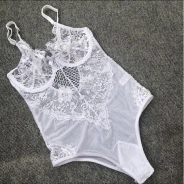 White lace bodysuit FREE SHIPPING