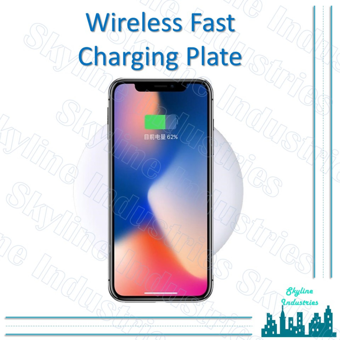 official photos ebe7c 776e8 Wireless Fast Charging Plate iphone x iphone 8 s8 note 8