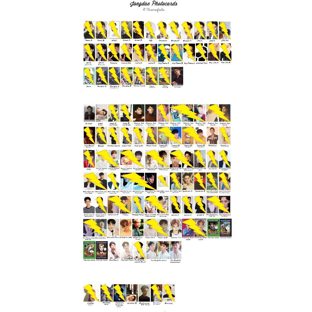 [WTB] Chen Photocards