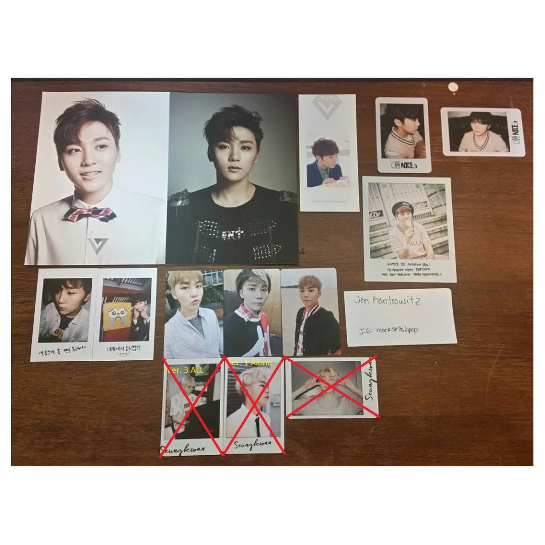 [WTS] SEVENTEEN Boo Seungkwan Photocards