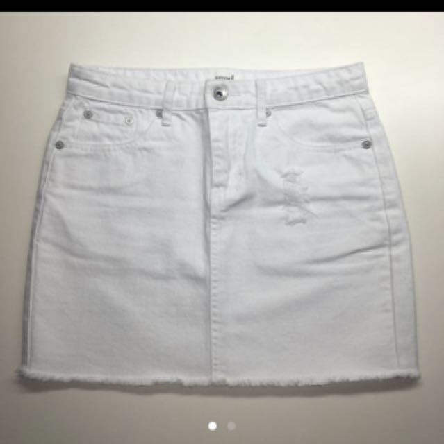 [X-SMALL / SMALL] SEED White denim skirt
