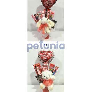 Chocolate bouquet with balloon