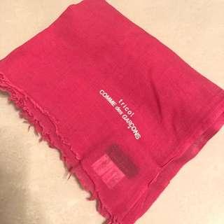 comme des garcons tricot scarf pink 頸巾 披肩 全新 正貨