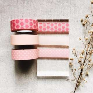 🌸SALE ! Pink Set (Washi Tape Sample - SOLD PER DESIGN)