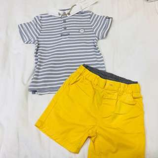 Brand new baby boy clothes for cny - Mothercare and chateau de sable polo tee shirt tshirt