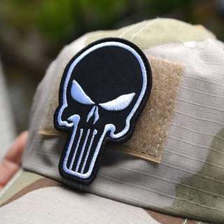 Exclusive 3d Embroidery Punisher  Armband Morale Color Double-Sided Patch Affixed Military Patches Badges Free Postage
