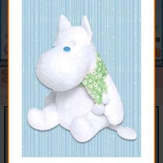 Moomin extra large fluffy muffler plush