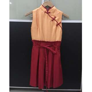 Pre loved Red Sissae Qipao size XS
