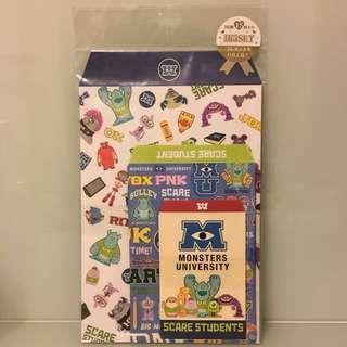 🈹🈹(包郵) *全新* 日本 Disney Store 怪獸大學 毛毛 信封套裝