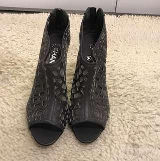 CHANEL runway heels! See through mesh ... SUPER TRENDY!!!!!