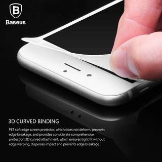 Baseus Soft 3D Curved Tempered Glass for iPhone 6/7/8/Plus