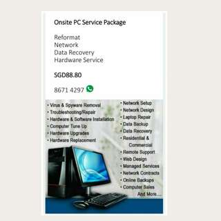 Onsite PC Service Package