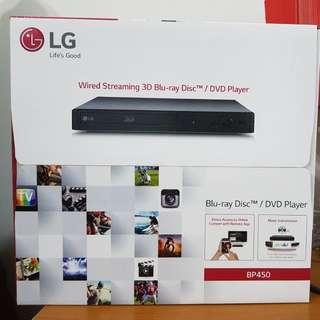 New LG Blu-ray Disc DVD Player BP450