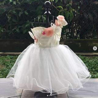 Rose petal princess dress | 12-18 months
