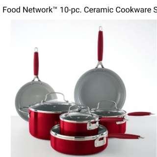 Food Network 10 pc cookware set ceramic