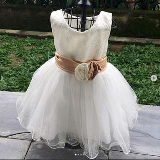 Princess dress with satin bow | 18-24 months