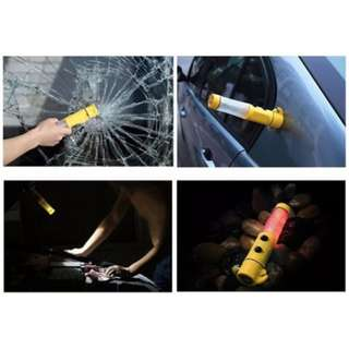 💥 LIFE SAVER 💥Car Vehicle 6 in 1 Tool Glass Window Breaker Seat Belt Cutter Light Emergency