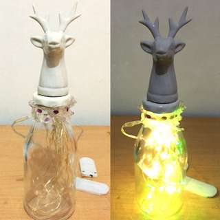 Lampu LED Botol Hiasan Meja