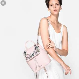 CHARLES AND KEITH EMBROIDERY BACKPACK