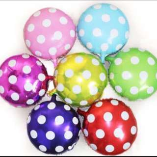 Free normal mail for any 3 pcs deflated polka dot foil balloons