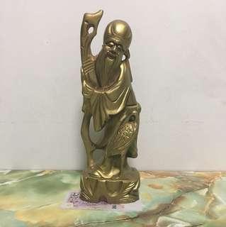 Shou Xin Gong Wood Figurine