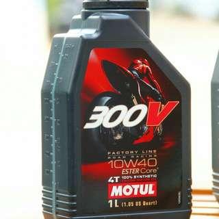 Original Motul 300v factory line 10w40/10w50